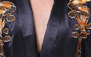 Вышивка на мужском атласном халате