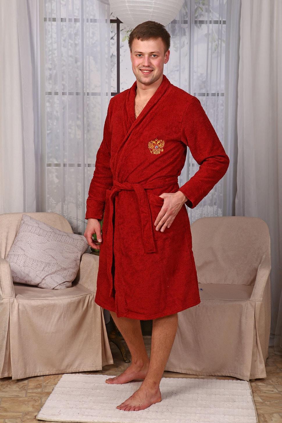 Вышивка на мужском бамбуковом халате