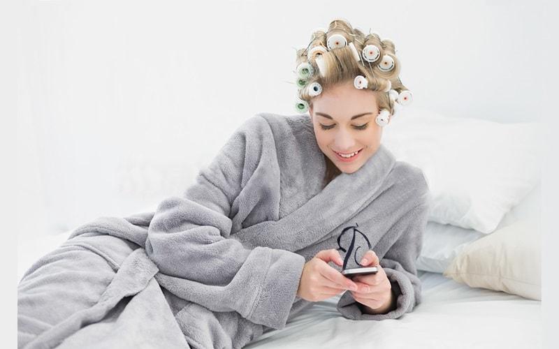 Вышивка на женском флисовом халате