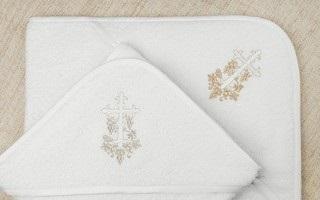Вышивка на крестильном полотенце