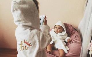Вышивка на детском махровом халате