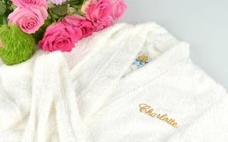 Вышивка на женском махровом халате