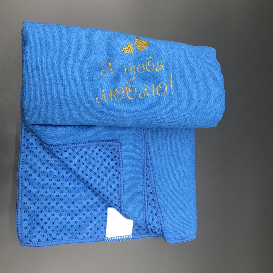 Вышивка на банном полотенце из микрофибры