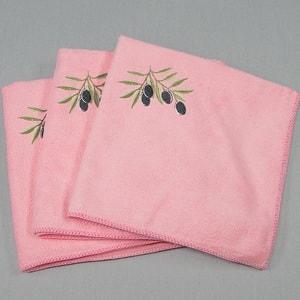 Вышивка на кухонном полотенце из микрофибры
