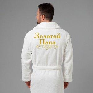 Вышивка на мужском махровом халате